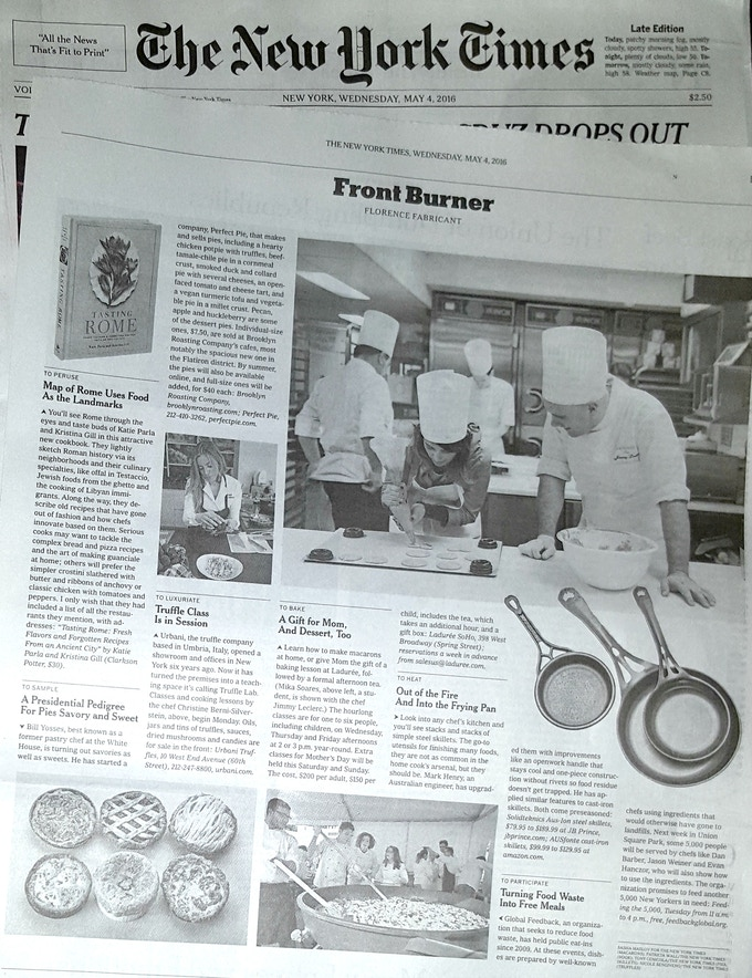 It was a special moment to see this little Aussie manufacturer's iron cookware praised in the New York Times!