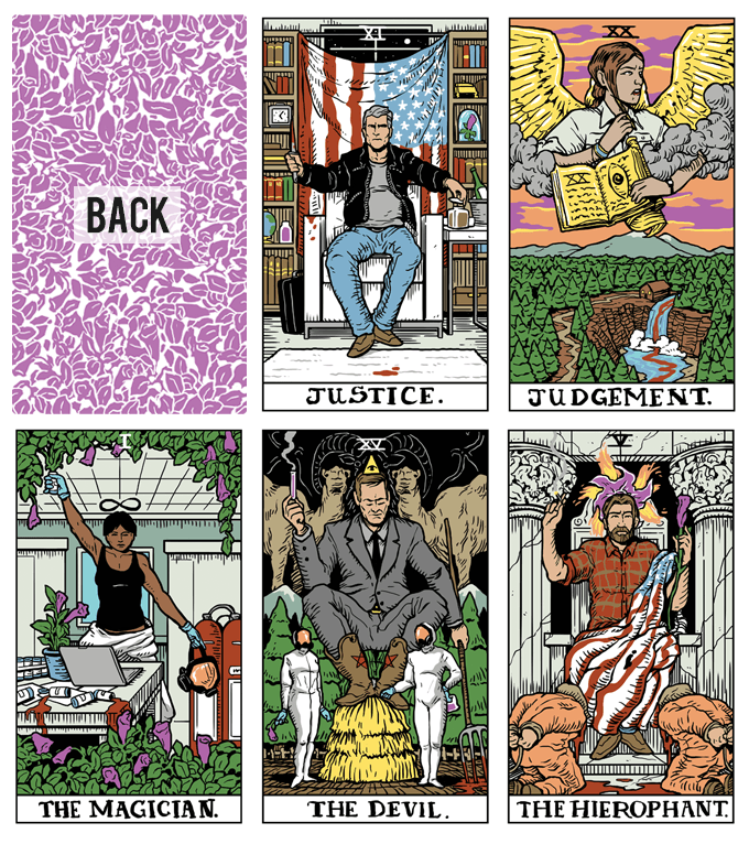 Tarot cards by Benjamin Mackey