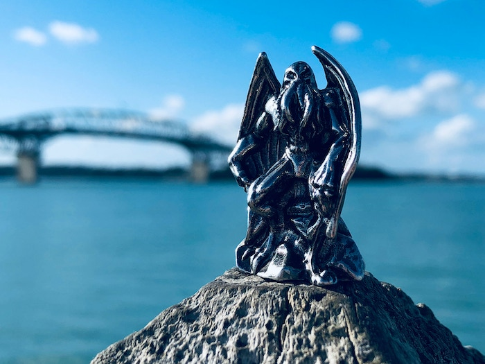 Cthulhu stands proud over Auckland harbour, surveying his next victims?