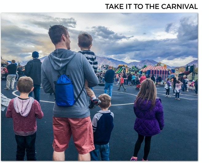 The Infinity Daypack is the perfect companion at carnivals and amusement parks.