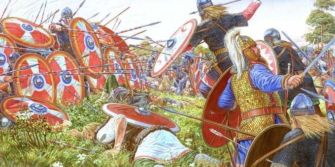 Battle of Adrianople, year 378 (https://about-history.com/battle-of-adrianople-378-c-e-the-beginning-of-the-collapse/)