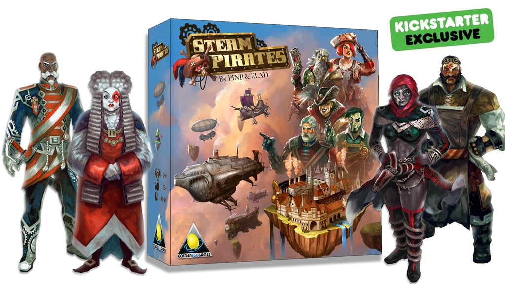 Steam Pirates. A dice driven steampunk board game.