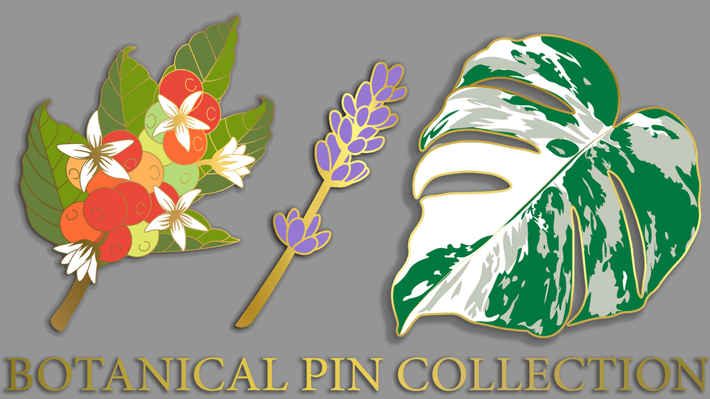 Botanical Pin Collection