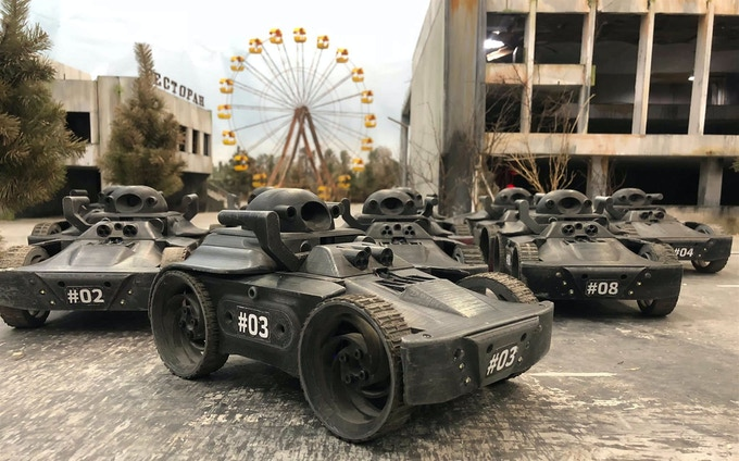 Ten first robots.