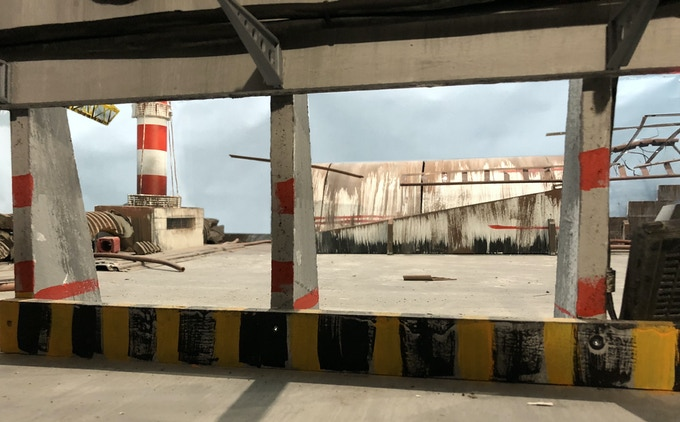 A lot of interesting hiding places are located on the roof of nuclear station
