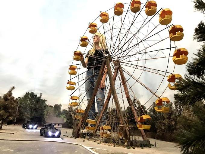 Ferris wheel is the main attraction.