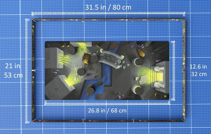 Wall & playmat dimensions.