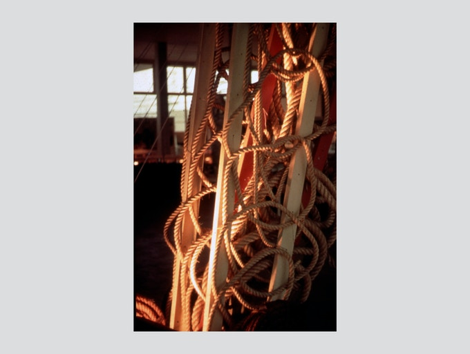 Moholy-Nagy Photograph #8. Donated to the campaign by the Moholy-Nagy estate, these are modern prints of 35mm Kodachrome slides made between 1937 and 1948 by László Moholy-Nagy. They measure 11 x 14 inches and come matted in 16 x 20 inch archival mats, unframed. They're processed on Fuji Crystal Archive paper. Printed by the noted photographer, Liz Deschenes for the Andrea Rosen Gallery, they're editions of ten. The prints are embossed with the Moholy-Nagy estate stamp and signed by Hattula Moholy-Nagy.
