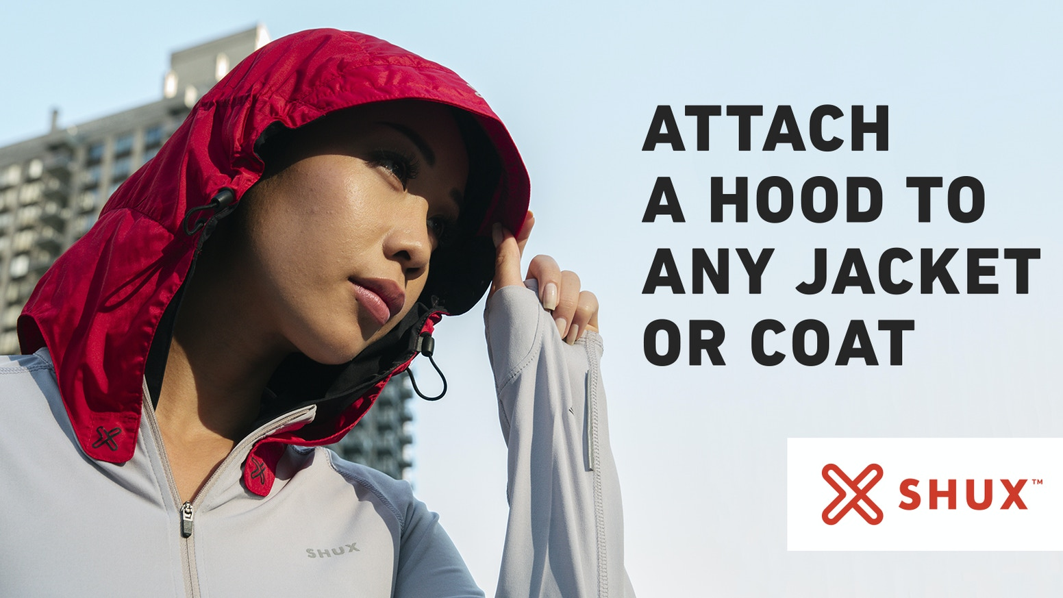 Always be ready for rain, snow, or wind with the only hood that attaches to any jacket or coat with magnetic technology.