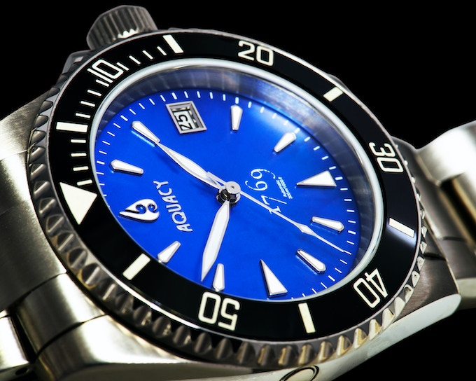 Blue Mother of Pearl Dial With Black Ceramic Bezel