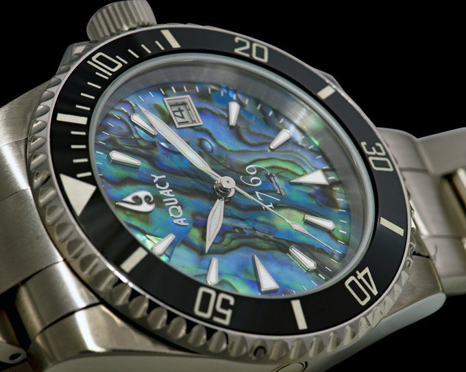 Abalone Dial With Black Ceramic Bezel