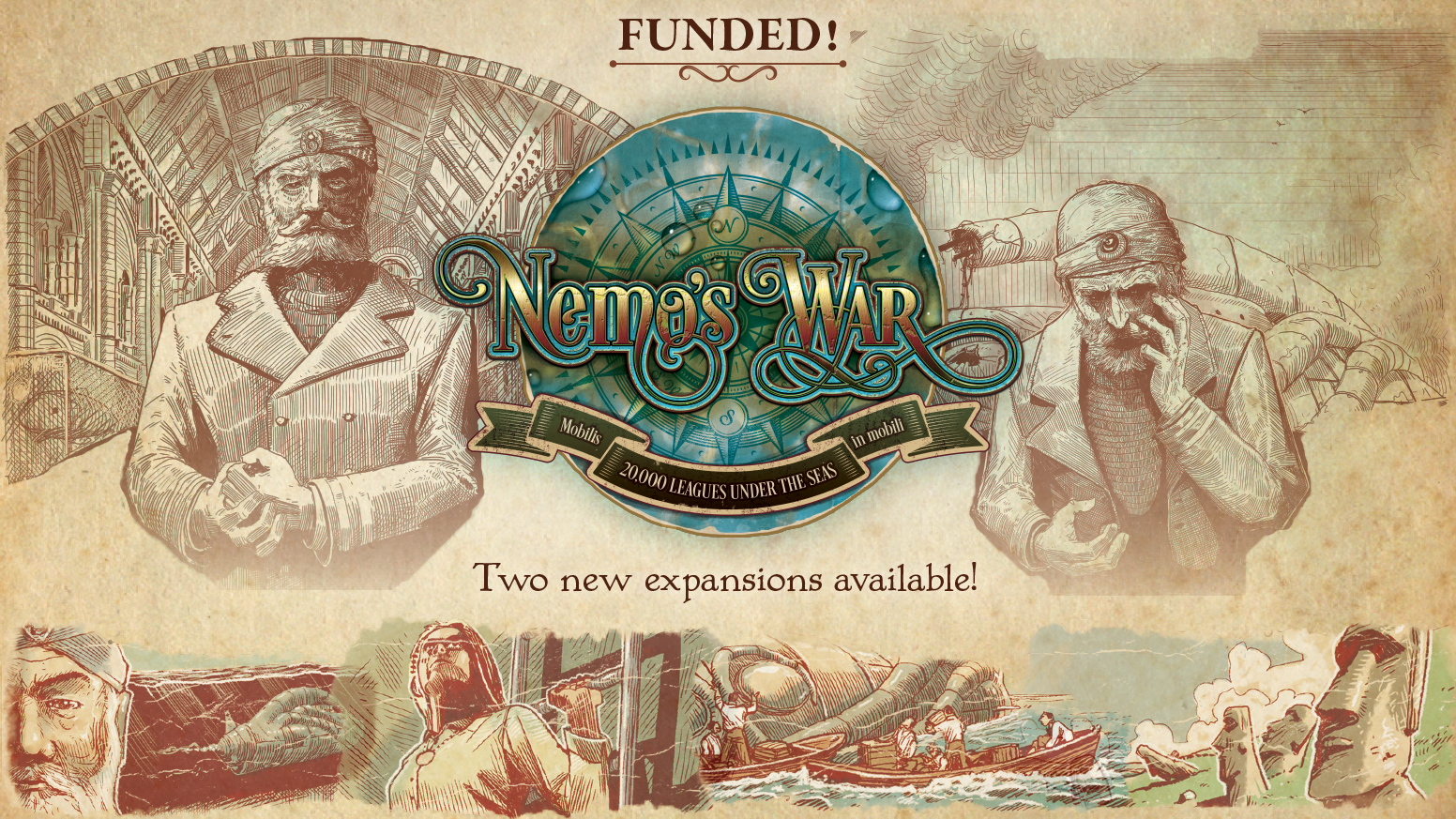 Expand the horizon with the Bold and Caring & Dramatis Personae expansions for Nemo's War: Second Edition!