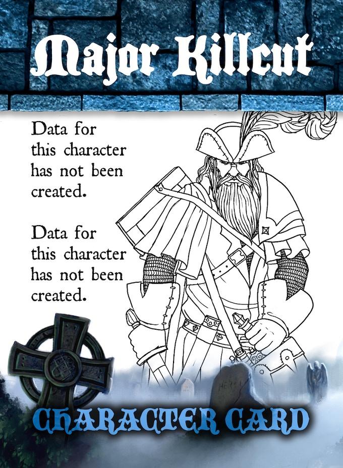 CHARACTER CARD SAMPLE - FLIPPED - Major Jamison Raegar Killcut!