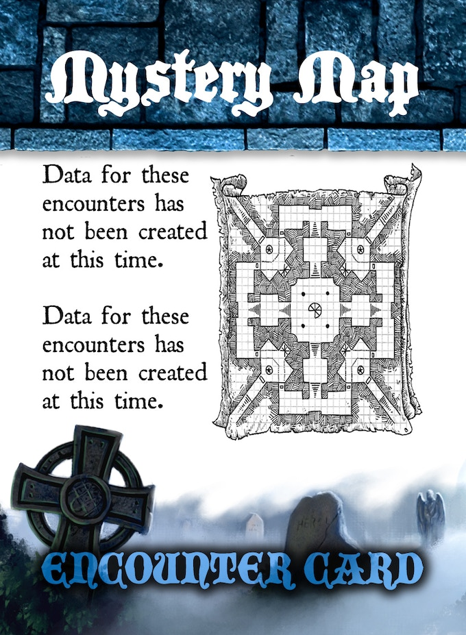 ENCOUNTER CARD SAMPLE # 2 - FLIPPED - Mystery Map Leading To....?