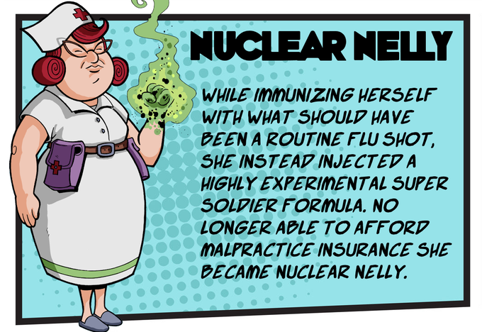 Know Powers - Nuclear Nelly can either place two service markers on one table or turn an already placed service marker to its extra service side on her turn.