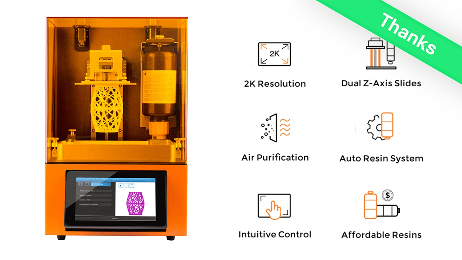 Safe, high-resolution and user-friendly, Dazz 3D provides the professional-level quality and the best 3D printing experience!