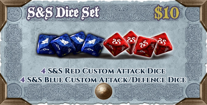 An additional sets of dice, to play comfortably with a high number of players.