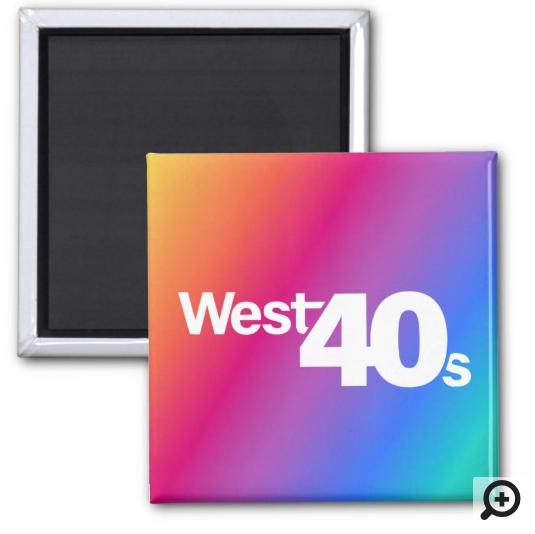 """""""West 40s"""" Magnet, 2"""" x 2"""""""