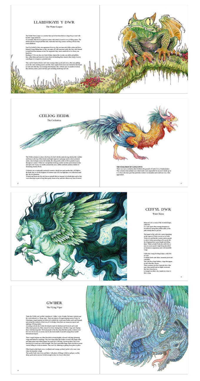 Samples of inside pages.