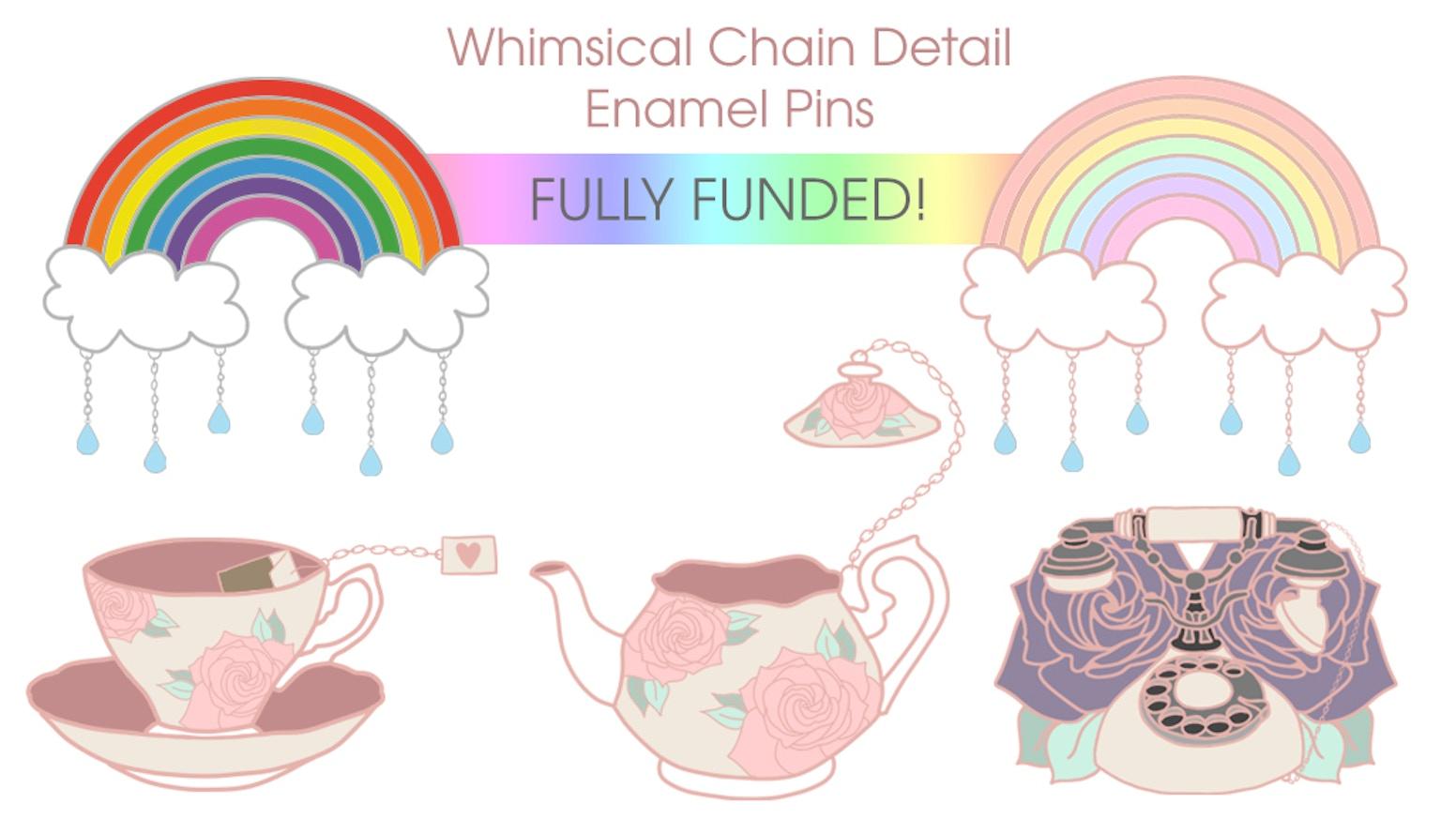 Rainbow & Raindrops Enamel Pin + Stretch Goals by Kirsty Hampson —  Kickstarter