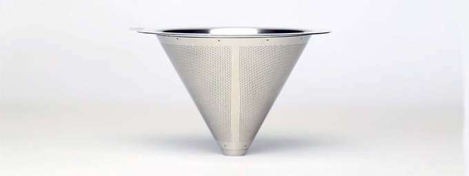Double layered 18/8 stainless steel filter.