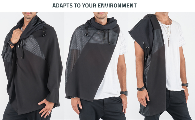 """Model Height 5' 11"""" Sleeve: 31"""" // Size: Large"""