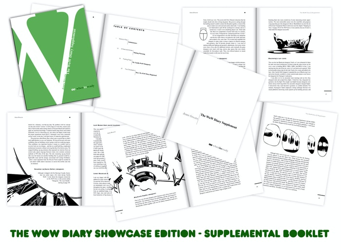 Speaking of pictures, I threw together a little mock-up of the Showcase Edition's supplemental booklet. Swanky, eh? (click for a larger image)