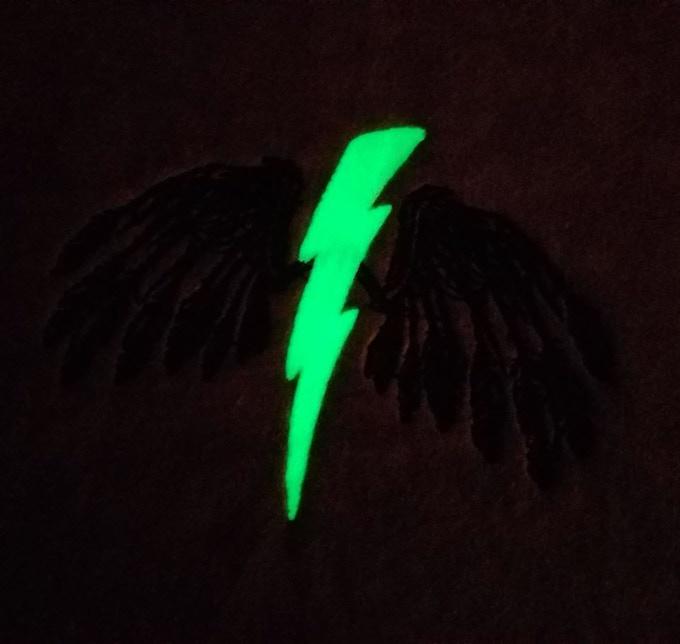 Lightning bolt glows in the dark!