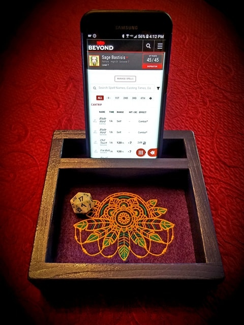 """""""Electronic orientation"""" version of the Heroic Dice Tray will be an option!"""