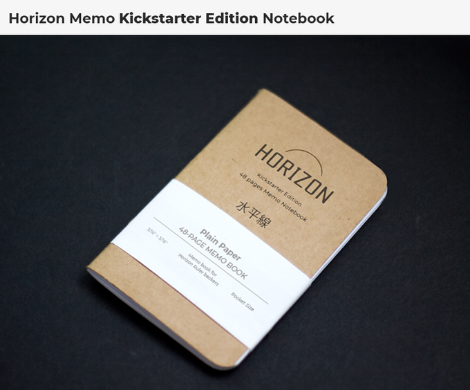 Kickstarter edition Memo book is also available. Check Add-on section to add it to your pledge!