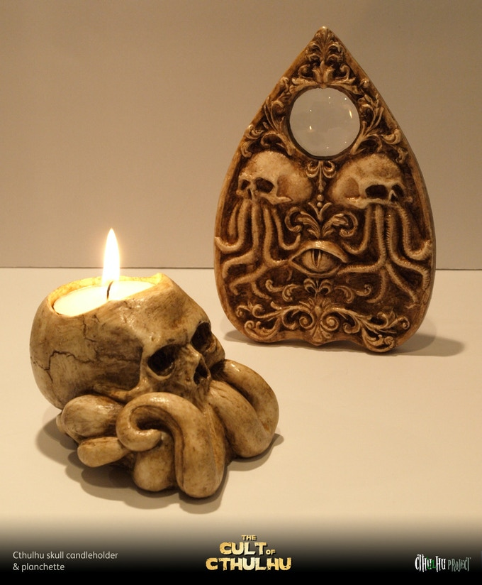 Candleholder and planchette