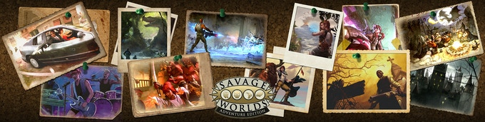 The Savage Worlds Adventure Edition GM's Screen! Perfect for any genre! All four Mini Settings will be printed and bound with the GM Screen so your group can play immediately!