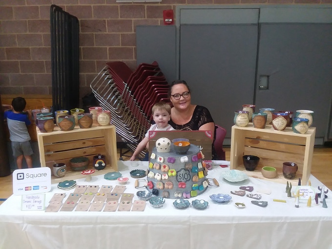 Selling my work at a breastfeeding event