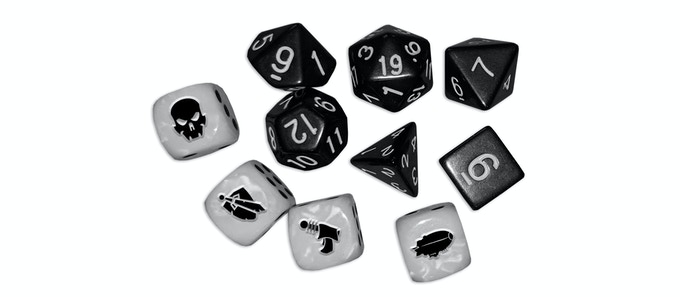 The dice set, with four different Wild Dice to keep your luck running hot. ;)