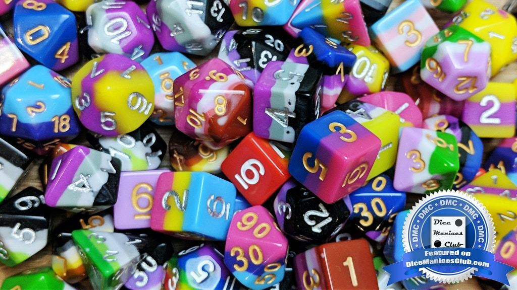Project image for Pride Flag Polyhedral Dice for Tabletop Roleplaying Games (Canceled)