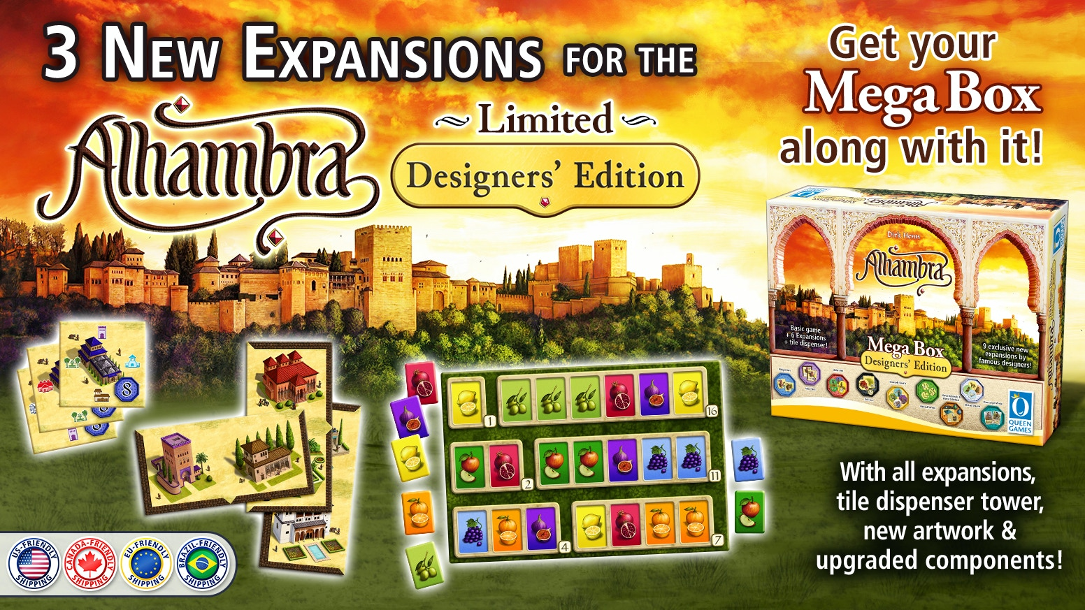 A chance to get the Designers' Edition as well as 3 new expansions!