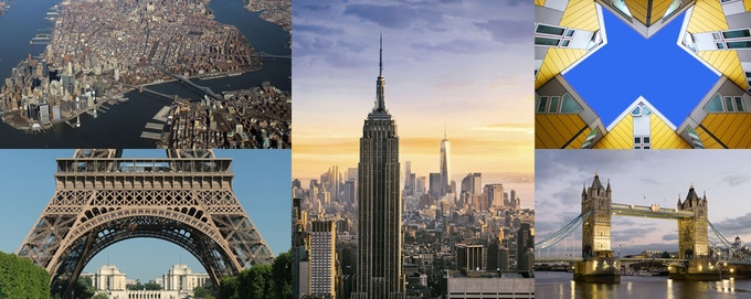 Each city has its unique look, shape and details