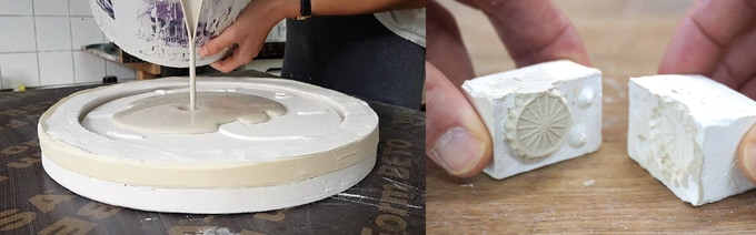 Slib-casting in custom made molds