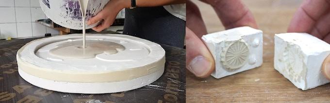 Slib-casting in custom made molds