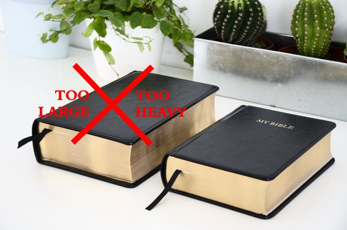 My Bible, the 1,280 page notebook  by Emilio and Juan Sebastián