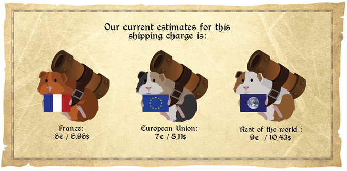 We have tried to keep shipping costs as low as possible.