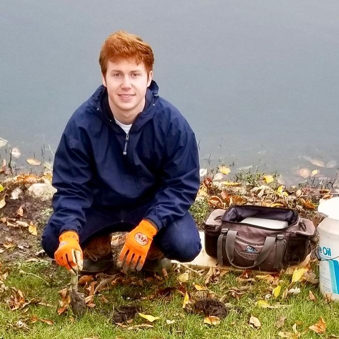 Aaron Wikle in the field
