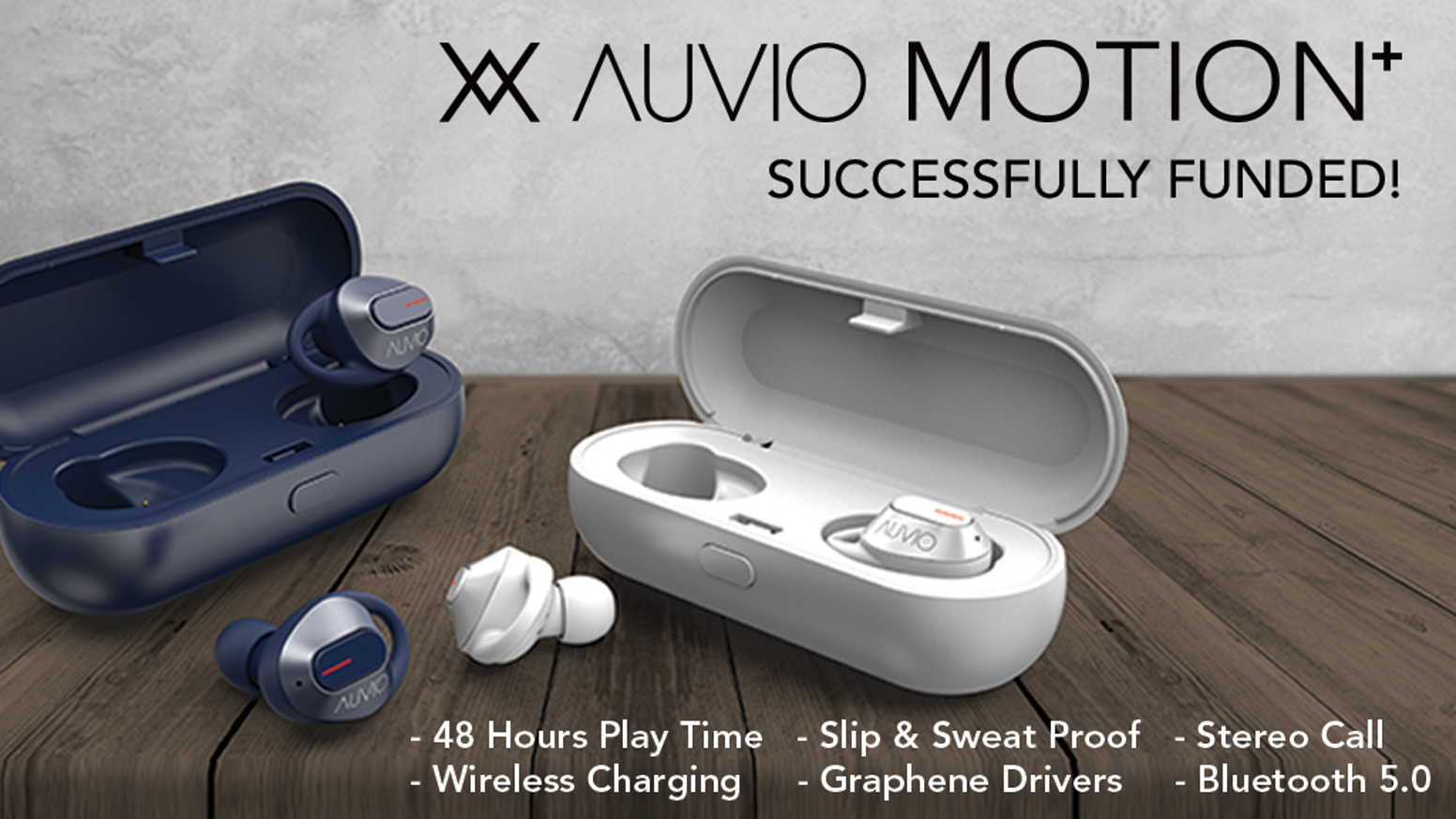The only true wireless plus earbuds with 48 hrs playtime, slip & sweat proof, wireless charging, Bluetooth 5.0  and amazing sound