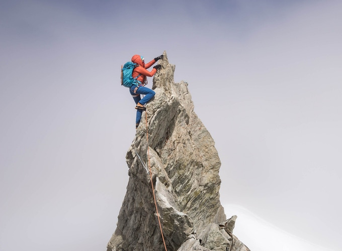 Valentine Fabre on the Zinalrothorn