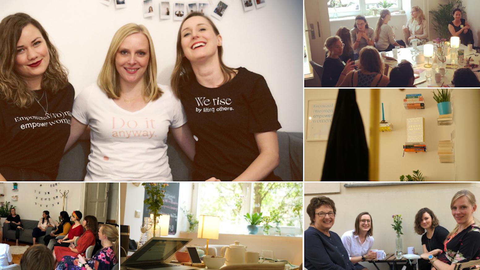 CoWomen - Community Club & Coworking Space. Wir verbinden aufstrebende Frauen und rütteln die (Arbeits-)Welt auf.