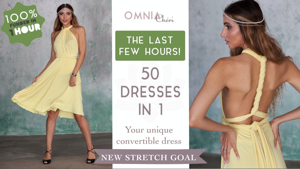 """Omnia Chéri"" - the most elegant convertible dress! project video thumbnail"