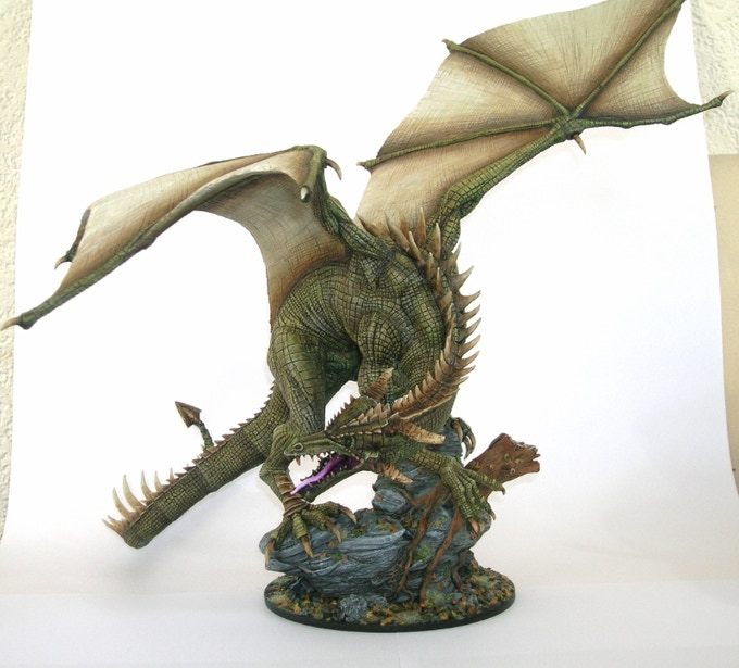 Dragon painted by Daemonslave
