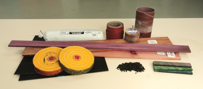 Some of the tools and raw materials that go into creating Switchblades