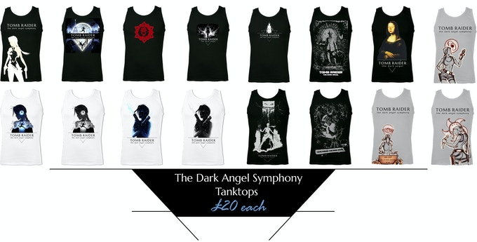 Increase your Pledge Amount by £20 to add one tanktop. Click to zoom.