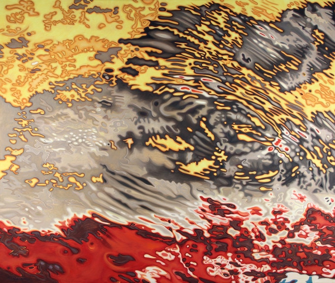 """The Indian Ocean """"Mozambique IX,"""" Oil on linen, 60x72 inches"""
